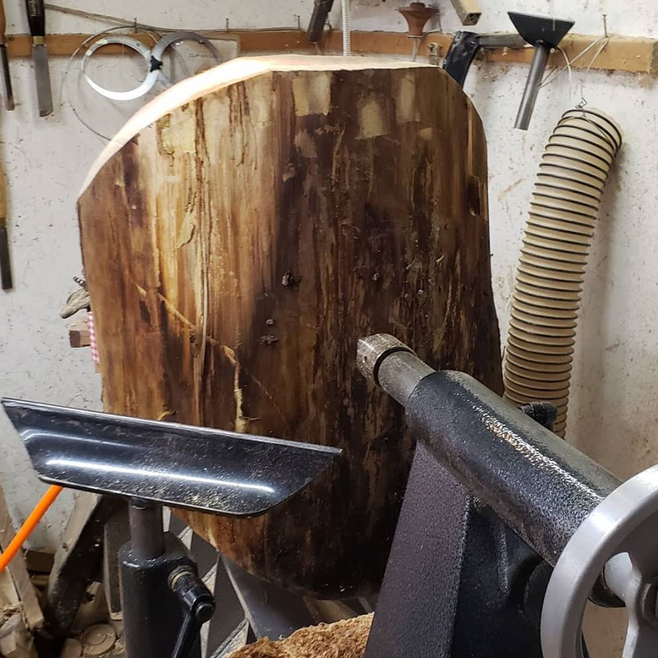 Mounted on         Lathe